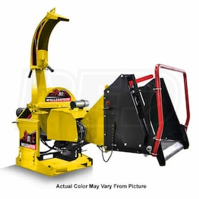 "Wallenstein (5"") 540-1000 RPM PTO Chipper w/ Hydraulic Feed & Intellifeed System - Yellow"