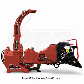 "Wallenstein (7"") 540-1000 RPM PTO Chipper w/ Hydraulic Feed - Red"